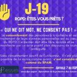 RGPD J-19 ... Qui ne dit mot, NE consent PAS!