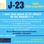 RGPD J-23 ... On opte pour le tri sélectif des données