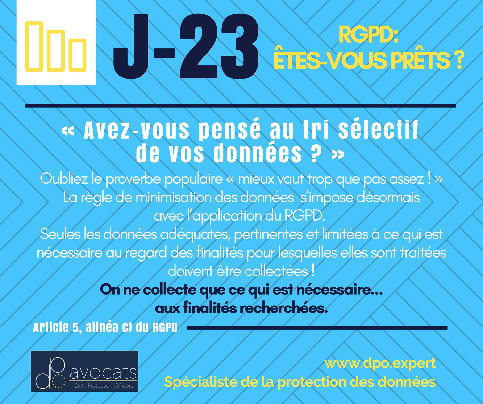 RGPD J-23 … On opte pour le tri sélectif des données